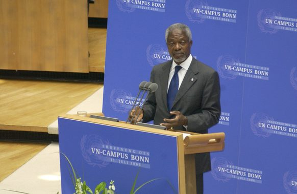 UN Secretary-General Kofi Annan at the inauguration of the UN Campus 2006