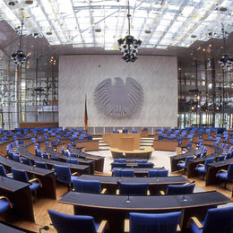 Former plenay hall of the German Bundestag